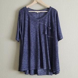Umgee usa 1 xl oversized blue top